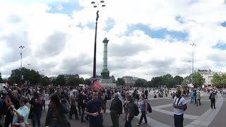 Paris protests 360: Inside French rally against labor reforms (Panoramic video)