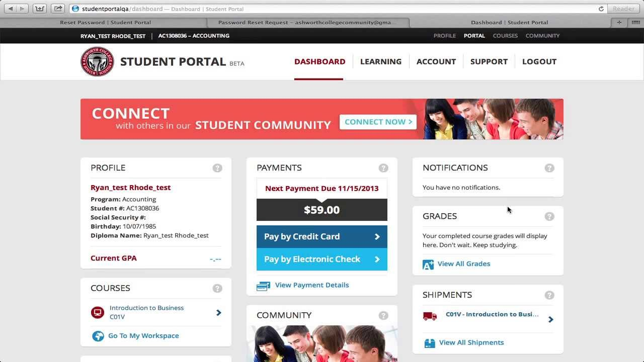 James Madison Online High School Login >> How To Login To The New Ashworth College Jmhs Student Portal