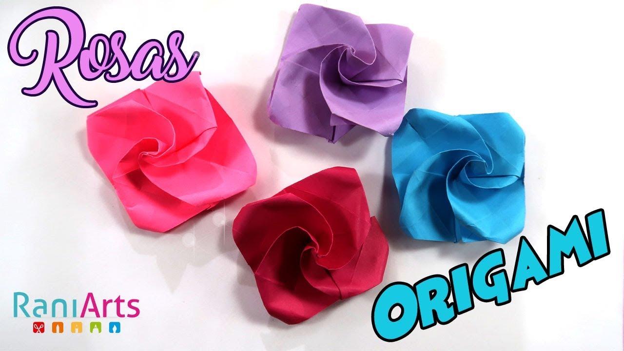 Rosas De Origami Fáciles Paso A Paso Diy