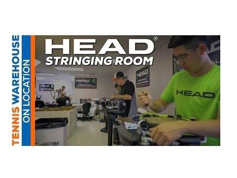 Inside the HEAD Stringing Room at the 2017 BNP Paribas Open (Indian Wells, CA)