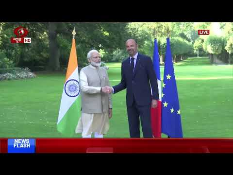 PM Modi meets his French counterpart Edouard Philippe