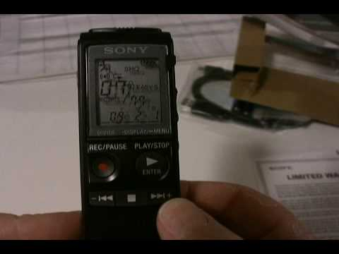 digital audio recorder sony icd px720 unboxing youtube rh youtube com sony voice recorder icd-px720 manual sony ic recorder icd px720 software download