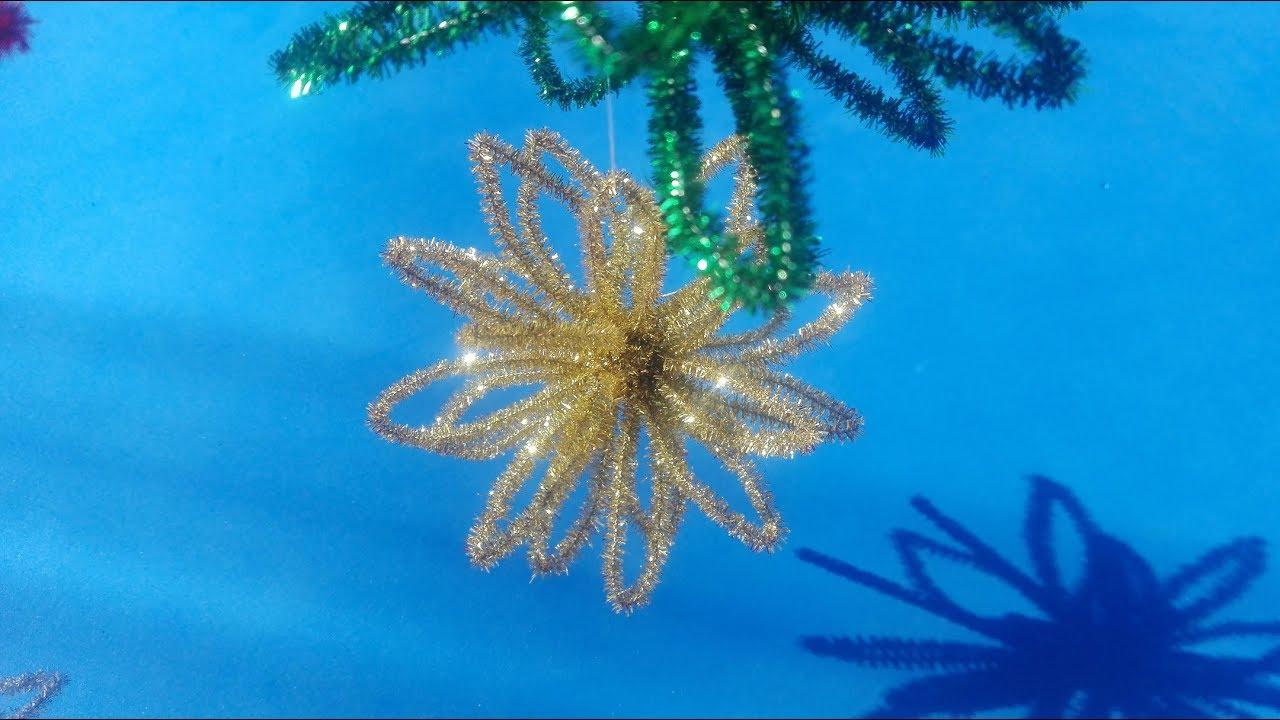 Esfera navideña fácil con limpiapipas (adorno árbol de
