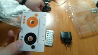 Кассета MP3 адаптер, плеер с пультом (кассета адаптер, переходник для автомагнитолы)