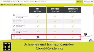 Schnelles und hochauflösendes Cloud-Rendering