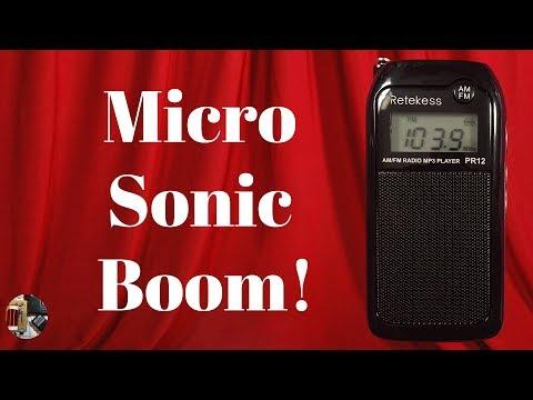 Retekess PR12 Micro AM FM Stereo MP3 Radio Unboxing & Review
