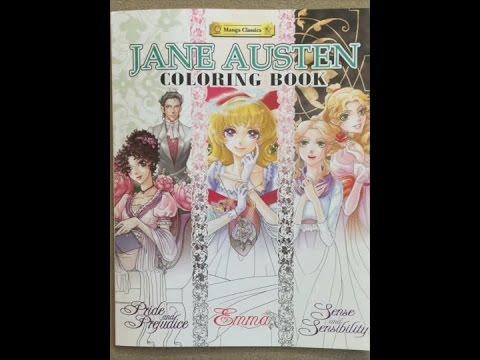 The Jane Austen Coloring Book Manja Classics Flip Through Youtube