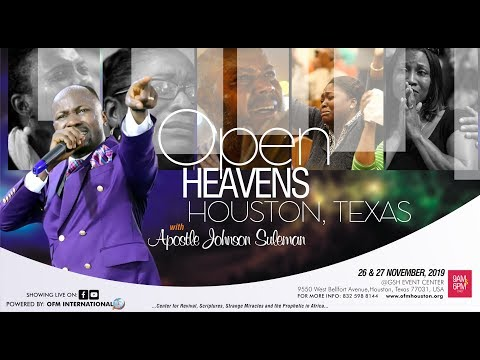 (Must Watch!) PROVOKING FAVOUR BY APOSTLE JOHNSON SULEMAN (HOUSTON, TEXAS DAY 2 EVENING)