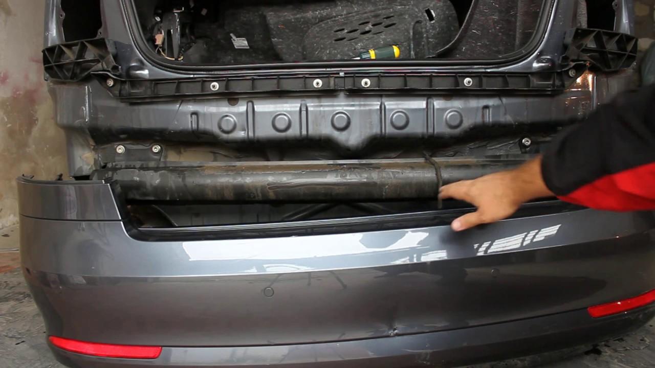 снятие переднего бампера skoda octavia