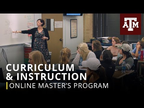 Texas A&M Graduate Programs: Online M.Ed. in Curriculum & Instruction