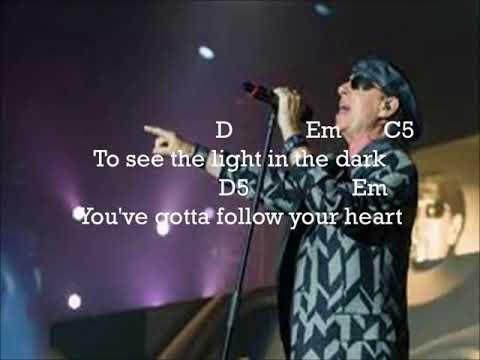 Scorpions - Follow Your Heart ( Lyrics + Guitar Chord )