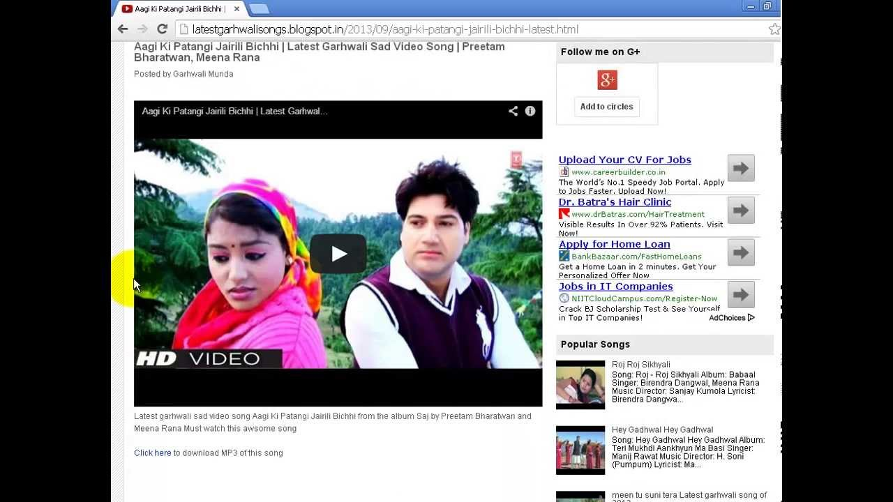 Which the best site for downloading garhwali mp3 songs? Quora.