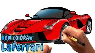How to Draw LaFerrari Supercar (NARRATED)