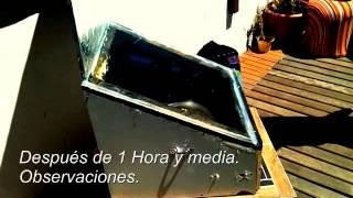 Horno solar funcionando - Málaga, España