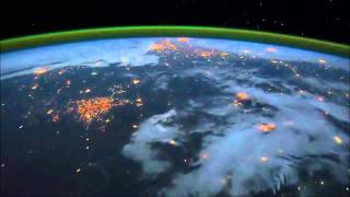 Earth Flyover in ISS with Water Music by Robert Fox - We live on a glowing, flying orb!