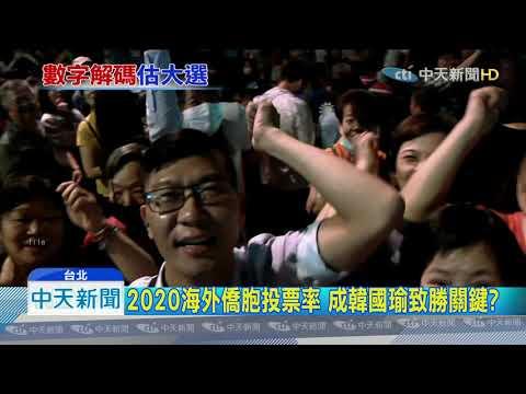 20190916中天新聞 韓能小贏蔡20萬票? 僑胞返台投票率成關鍵