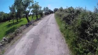 Ironman 70.3 Mallorca 2014 bike route, 500% speed, Part 2/3