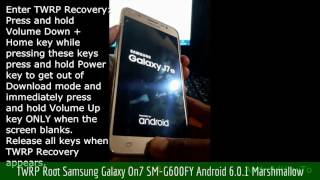 TWRP Root Samsung Galaxy On7 SM-G600FY Android 6.0.1 Marshmallow