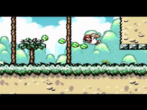 Yoshi's Island 3-6 The Cave Of Harry Hedgehog