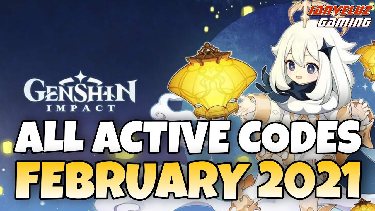 All Active Codes Genshin Impact Redeem Codes February 2021 Youtube