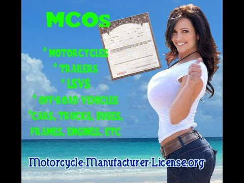 Mcos Certificates Of Origin For Vehicles Motorcycles Trailers