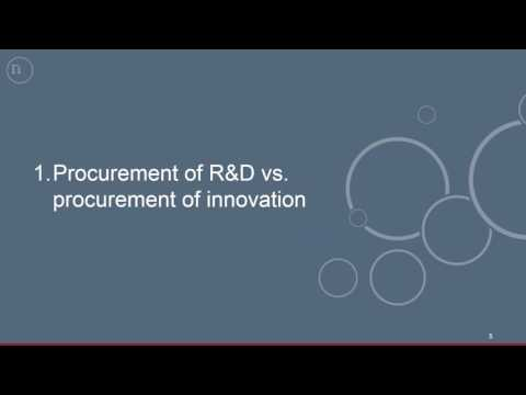 Webinar: SPICE Innovation Procurement - 17 Nov 2016