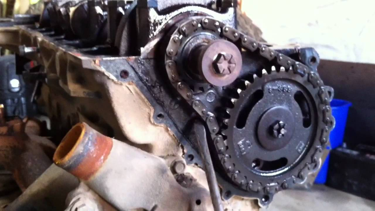 4.2L timing chain slack. - YouTube