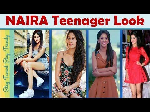 Indian Teenage #Girl Fashion Trend  #naira #kaira Lookbook Yrkkh  College Outfit Ideas{Short Dress)