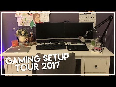 GAMING SETUP TOUR 2017 | 75,000 Subscribers