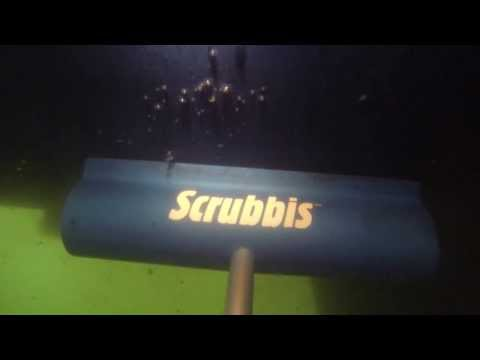 Scrubbis - how to clean boat hull.