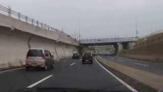 【前面展望】雨の鳥取環状道路 Tottori ring road of the front outlook rain