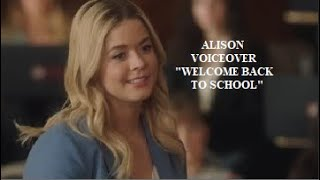 "The Perfectionists Pilot Voiceover | Alison ""Welcome back to school"""