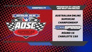 LeBLANC Australian Online Supercar Championship  |  Round 16  |  Charlotte (Roval)