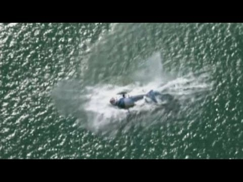 World's first carbon fibre helicopter crashes and sinks in Auckland harbour