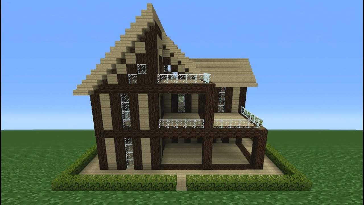 Minecraft Tutorial: How To Make A Wooden House - 13 - YouTube
