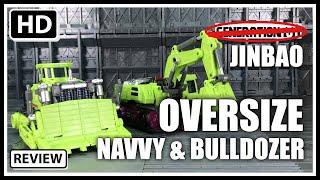 JinBao Oversized KO Generation Toys Devastator Navvy & Bulldozer Scavenger & Bonecrusher Set A