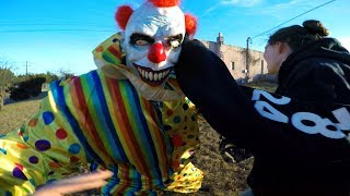 Scary Clown Attacks And Destroys Phone!