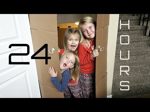 24 HOURS IN A BOX FORT MANSION! | Girls only