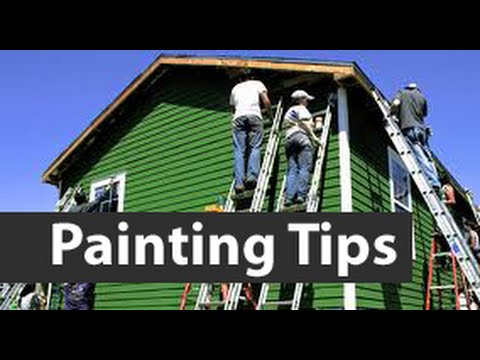 How To Painting A House.  Tips Painting The Outside Of A House.  DIY house painting tips.