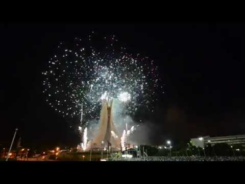 Feu d'artifice independence day à Alger (Maqam Echahid) le 5 juillet