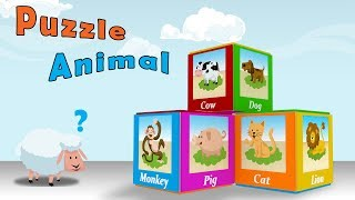 Animals for Children to Learn with Puzzle