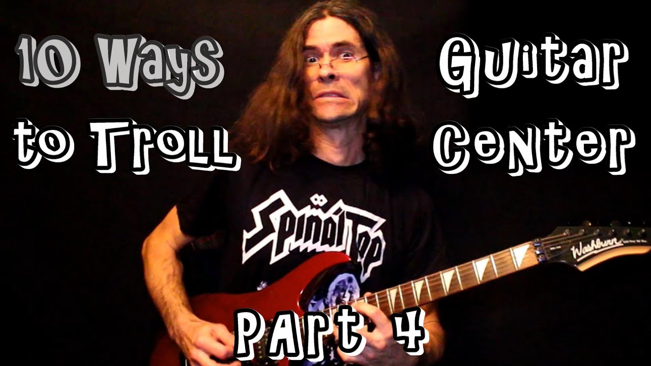 10 Ways to troll Guitar Center with Classic Rock (Part 4) #shorts
