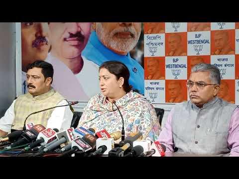 Press Conference - Smriti Irani at BJP WB HQ