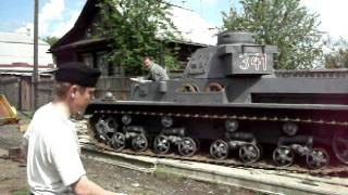Немецкий танк во дворе...