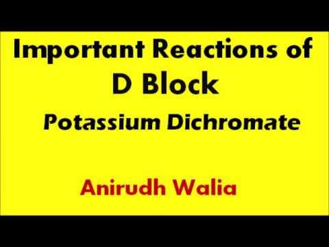 Important Reactions of D Block    Potassium Dichromate    Inorganic Chemistry tricks