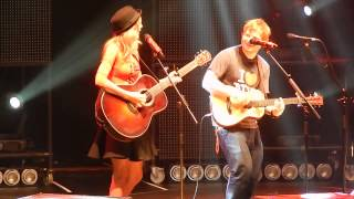 Ed Sheeran and surprise guest Taylor Swift