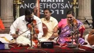 S.R.Mahadev Sarma and S.R.Rajasree (Swathi Sangeethotsavam 2011)