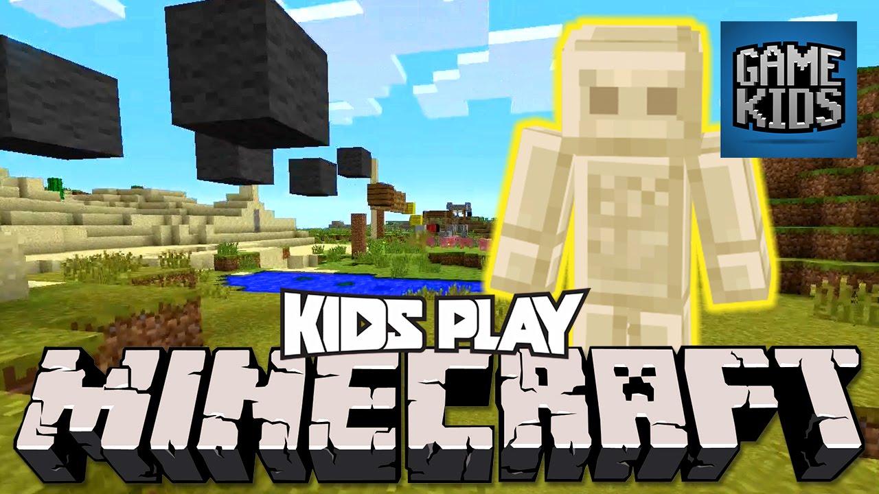 Minecraft Gameplay with Matt, Webb, and Mills - Kids Play