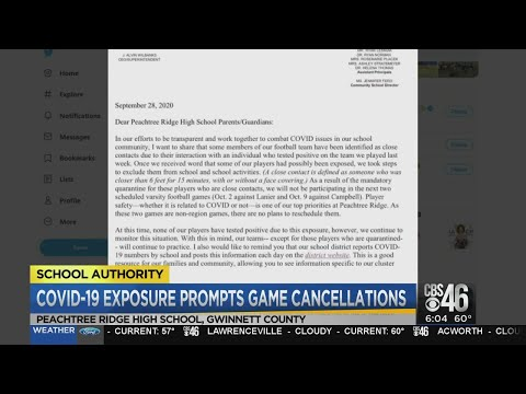Another school cancels football game due to COVID-19 concerns