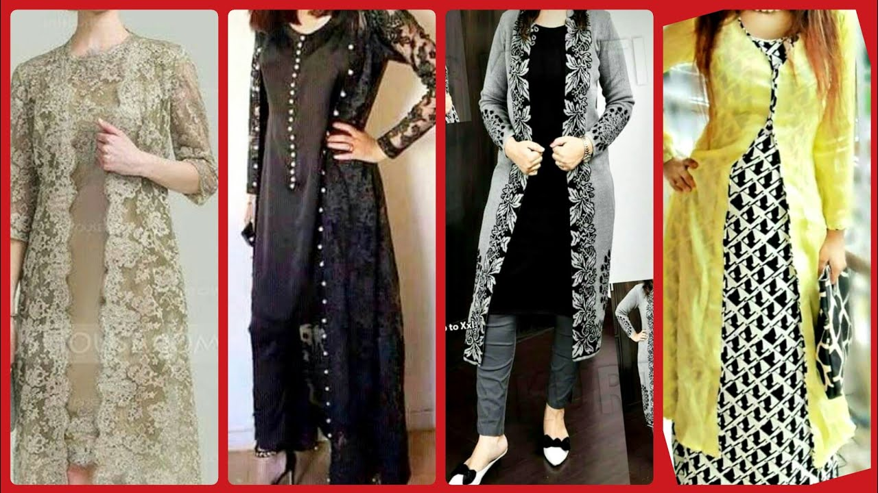 Latest Top Designer Casual Party Wear Gown Style Open Shirts Designs For Women 2019/2020